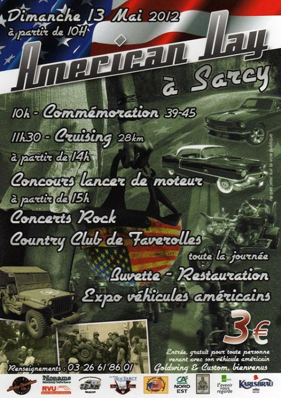 SORTIE STANGY AMERICAN DAY SARCY 2012