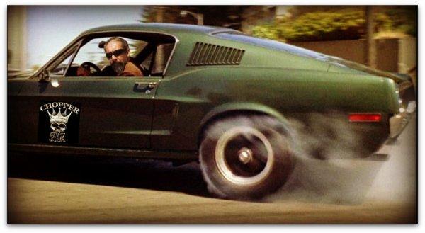La Mustang à Franky !!!!!! (un pote Biker)