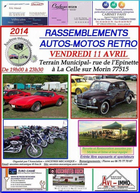 Sortie Stangy - Autos/Motos Rétro -  Le 11 Avril 2014