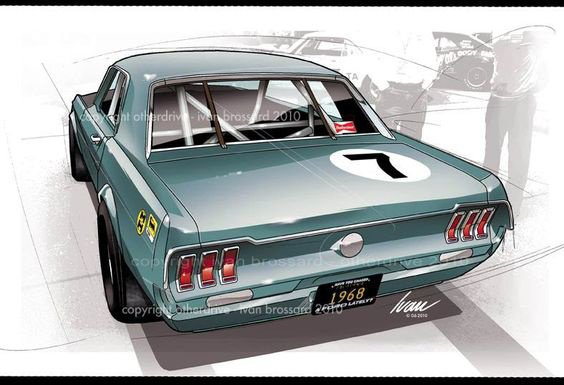 Illustration Mustang