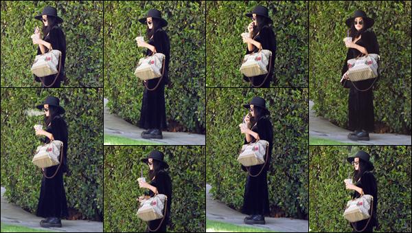 '- '-•-12/09/19- ─ Vanessa a été aperçue lorsqu'elle quittait sa maison située dans le quartier de Los Feliz à LA ! Alors là, la tenue vestimentaire est catastrophique ! J'ai l'impression qu'elle s'est déguisée pour Halloween, je lui accorde un énorme flop. -