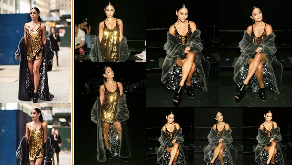 '- '-•-09/09/2019 - ─ Vanessa était présente lors du défilé  « Vera Wang » lors de la Fashion Week de New-York ! Alors là je dois avouer qu'elle est sublime et que sa tenue est parfaite de la tête aux pieds ! Je suis en admiration devant sa robe, un top. -