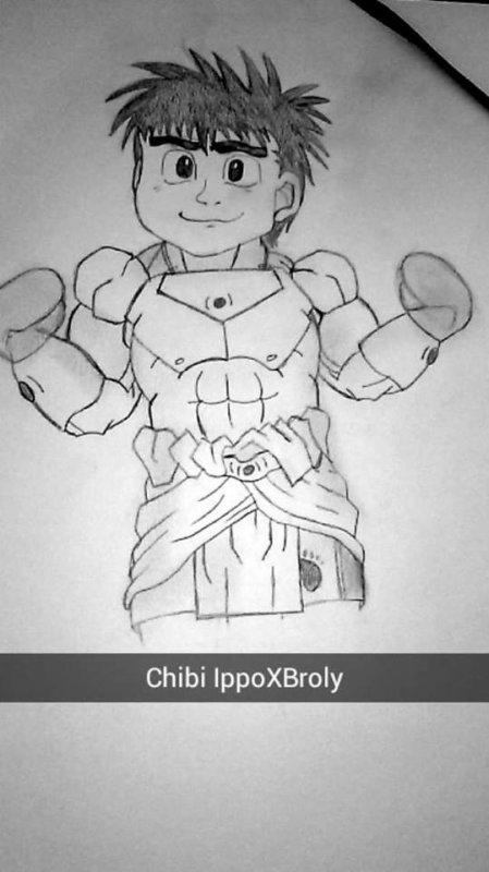 Ippo (Hajime No Ippo) X Broly (Dragon Ball Z)