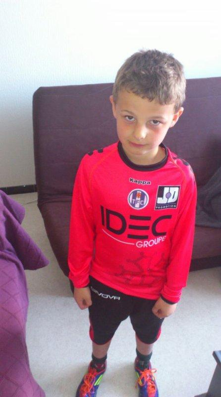 Enzo, jeune gardien au Limoux Pieusse FC sélectionné pour jouer un Toulouse F.C la saison prochaine !!!
