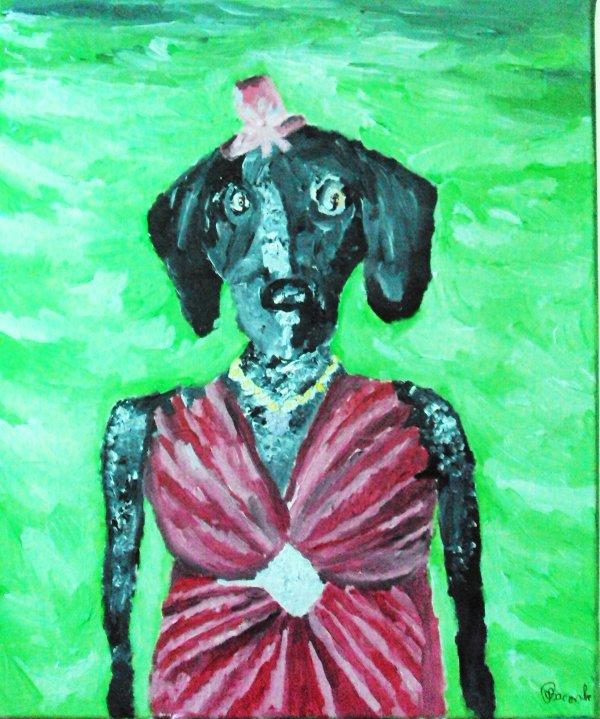 Choupette la chienne de ma tante version art contemporain