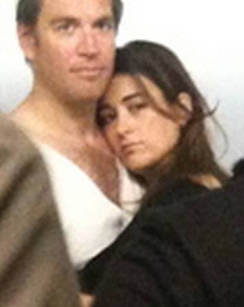 Cote de pablo and michael weatherly kiss