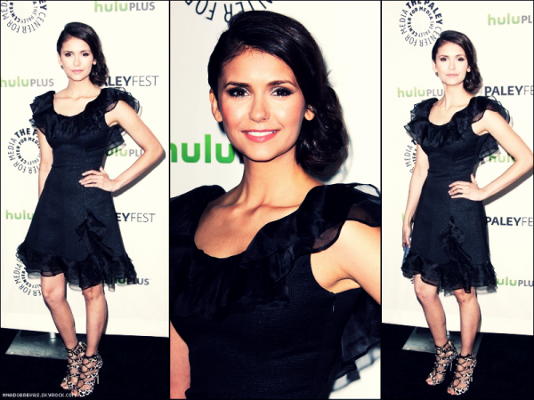 .  10.03 Nina était présente au  PaleyFest Honorer The Vampire Diaries à Beverly Hills  .