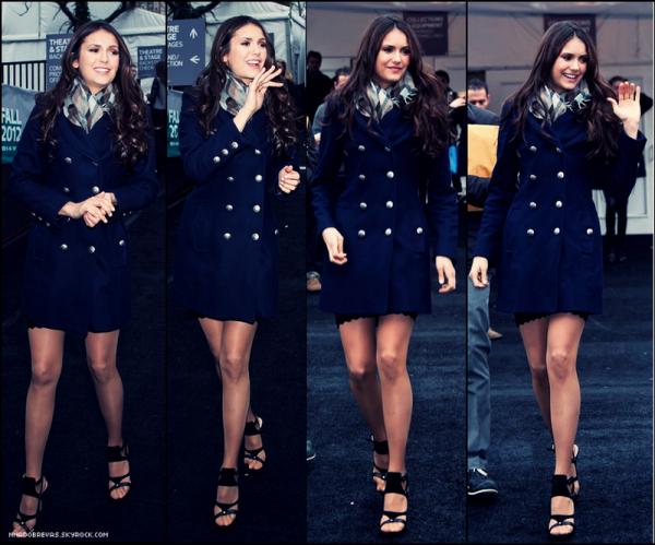 .  Candids         Aprés la Fashion Week , Nina à été aperçus dans les rue de New York !   .