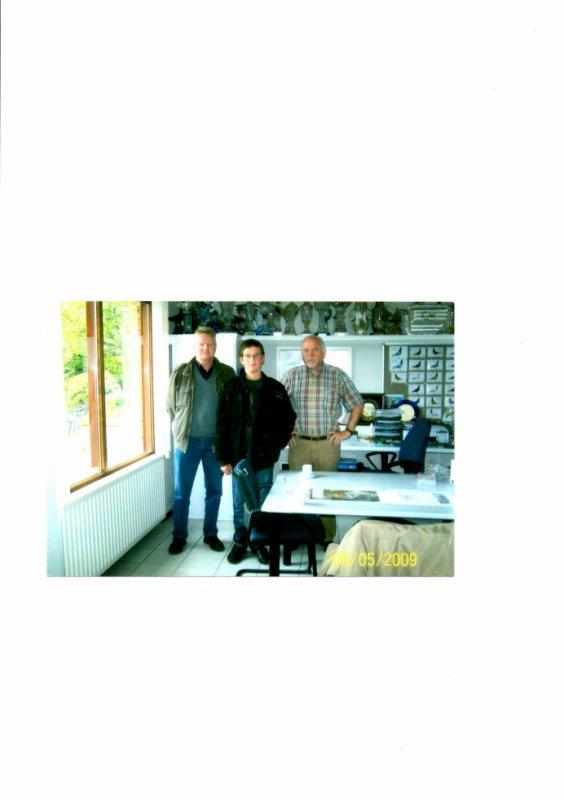 encore un petit souvenir avec Max chez Cor de Heijde de Made en 2009