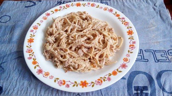 Spaghetti complet au thon
