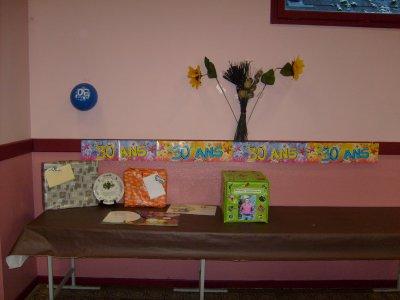 Voici la table des cadeaux