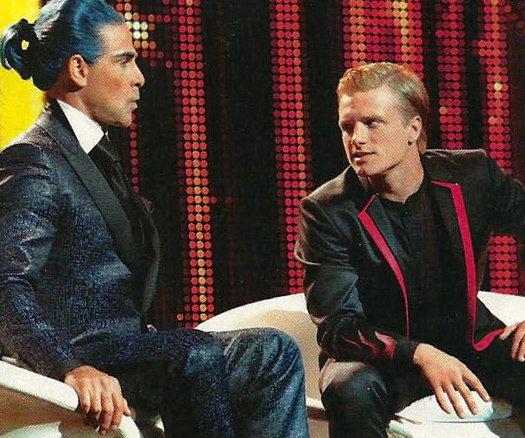 Hunger Games, l'interview de Peeta : Peeta et Caesar