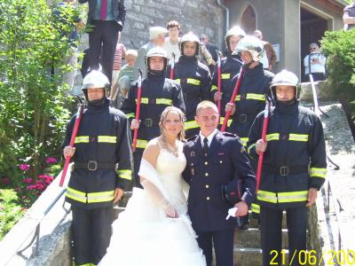 mariage de yannick( pompier paris) et d\u0027audrey