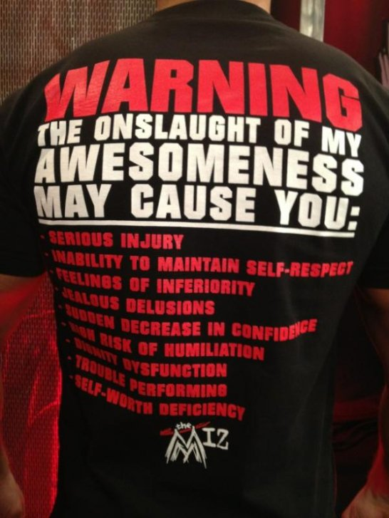 New Tee-Shirt de The Miz