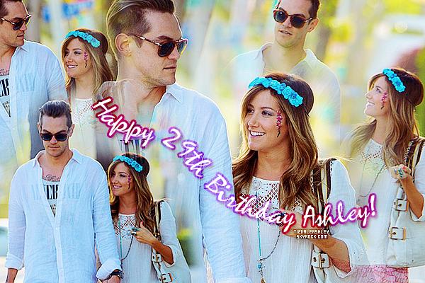 Le 2 Juillet: Aujourd'hui Ashley fête son 29ème anniversaire!!! Happy birthday Ash'!!