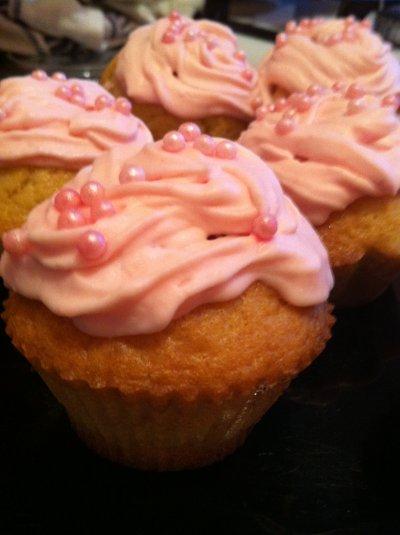 Cupcakes tagada pink
