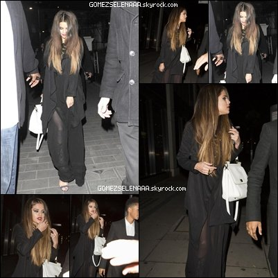 • 23/05/13 :  Sel' au restaurant  Hakkasan  avec Jaden Smith à Londres.