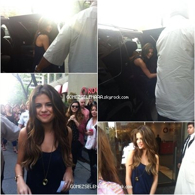• 30/05/13 :  Selena arrivant à une station radio à Toronto.