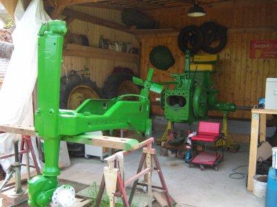 mise en peinture du chassis