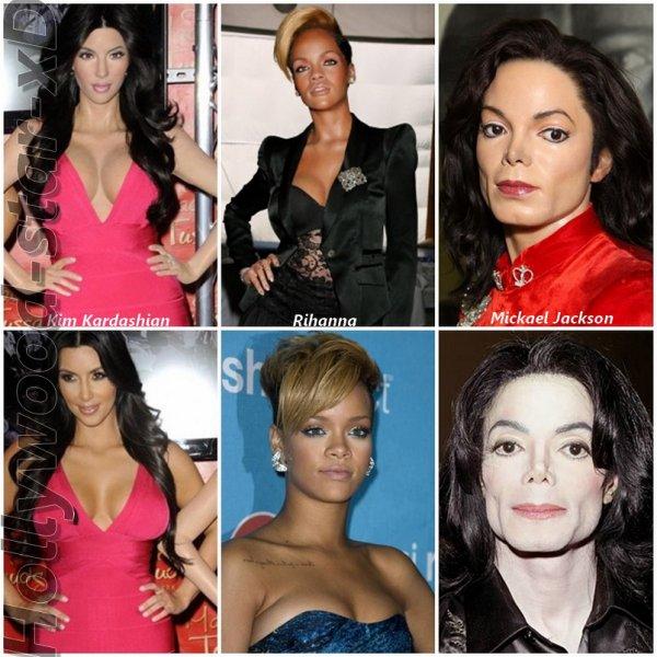 * ---> Les statues de cire !  Kim Kardashian, Rihanna & Mickael Jackson !  *