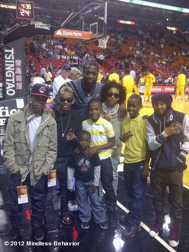 . MB at a Miami Heat Game .