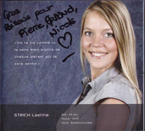 Autographes du trio de Miss Alsace 2011