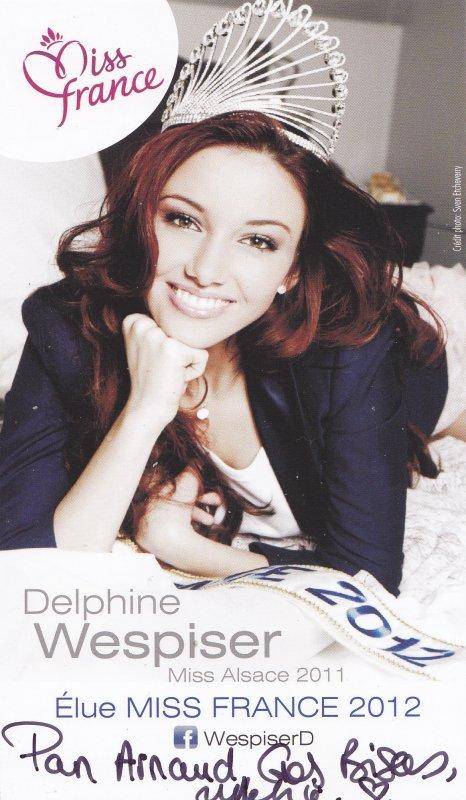 Autographes de Delphine Wespiser