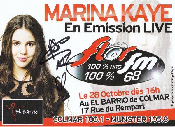 Autographes de Marina Kaye