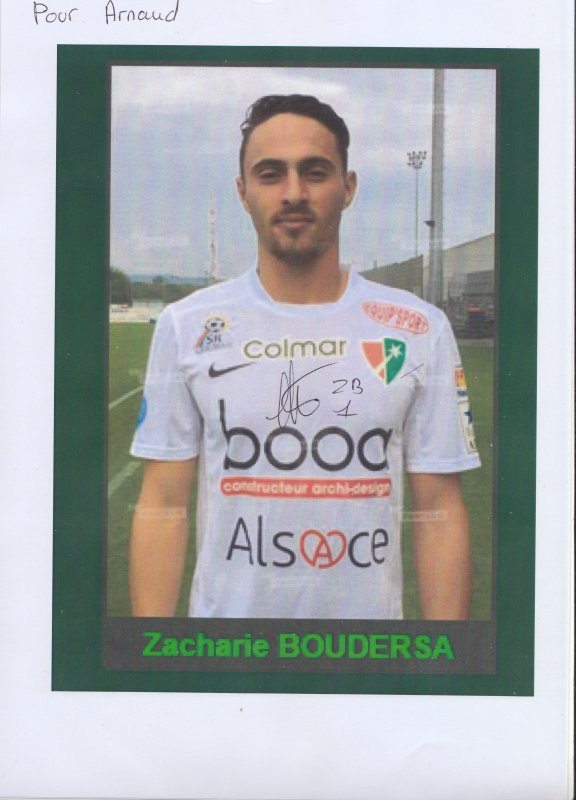 Autographe de Zacharie Boudersa