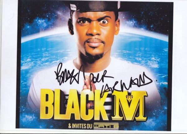 Autographe de Black M
