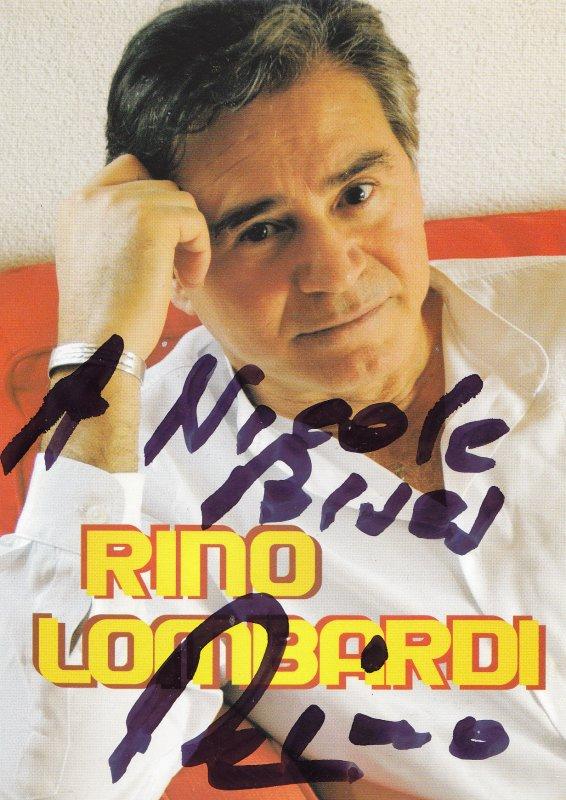 Autographe de Rino Lombardi