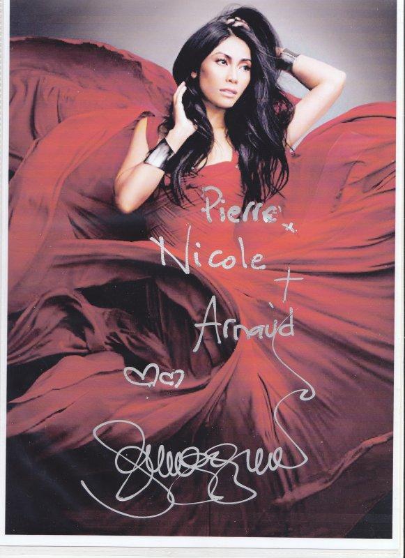Autographes de Anggun