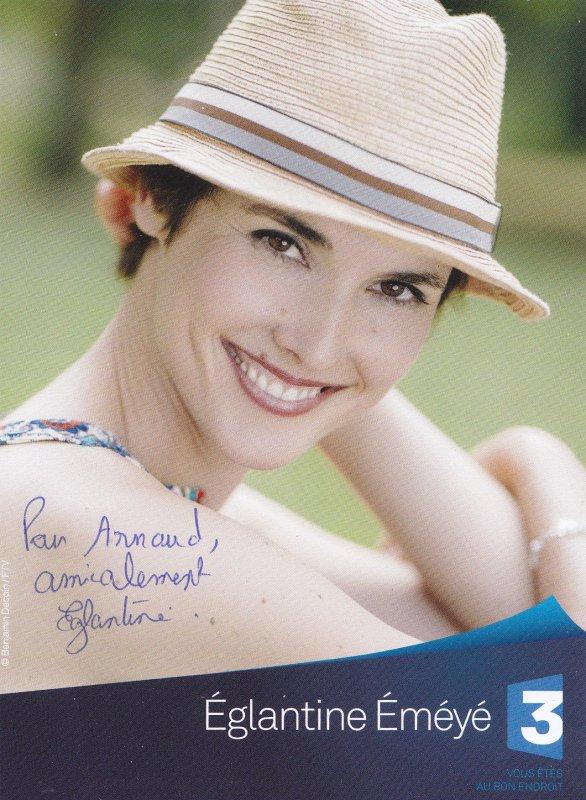Autographe de Eglantine Eméyé