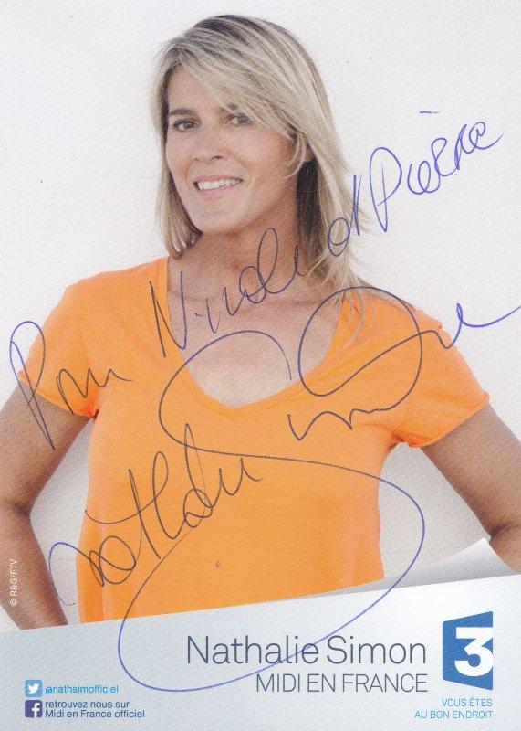 Autographes de Nathalie Simon