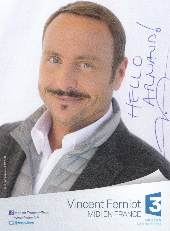 Autographe de Vincent Ferniot