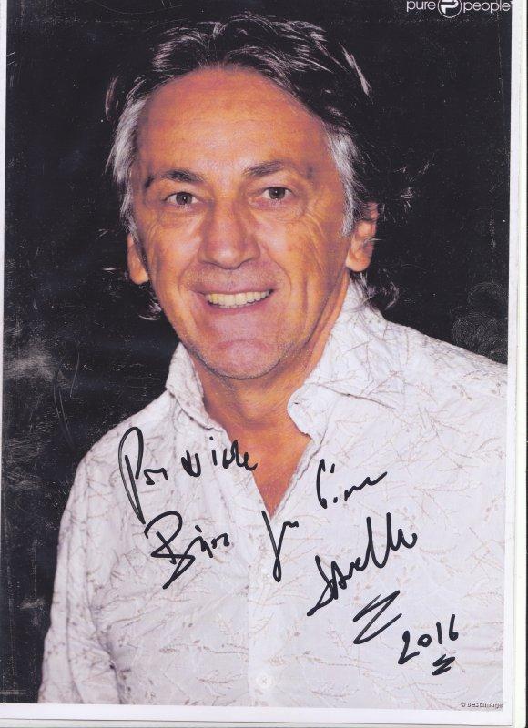 Autographe de Jean-Pierre Savelli