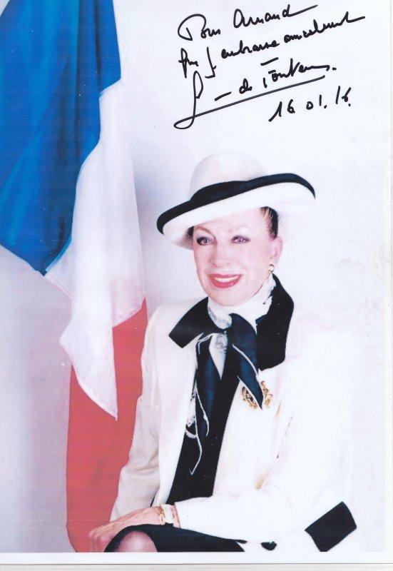Autographe de Geneviève de Fontenay