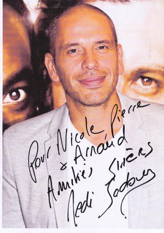 Autographe de Medi Sadoun