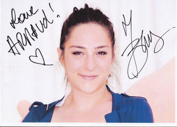Autographe de Marilou Berry
