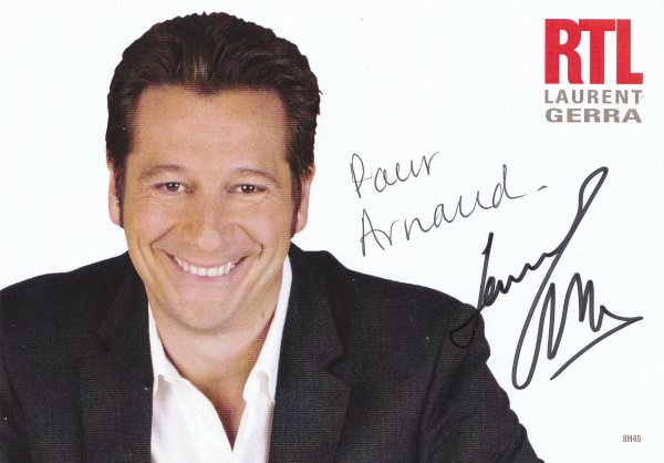 Autographe de Laurent Gerra