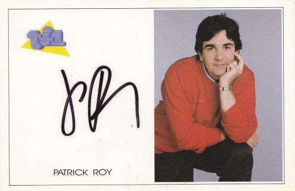 Autographe de Patrick Roy
