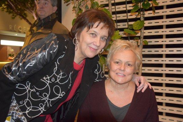 Rencontre surprise lors du showcase - Muriel Robin