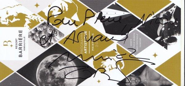 Autographe de Muriel Robin