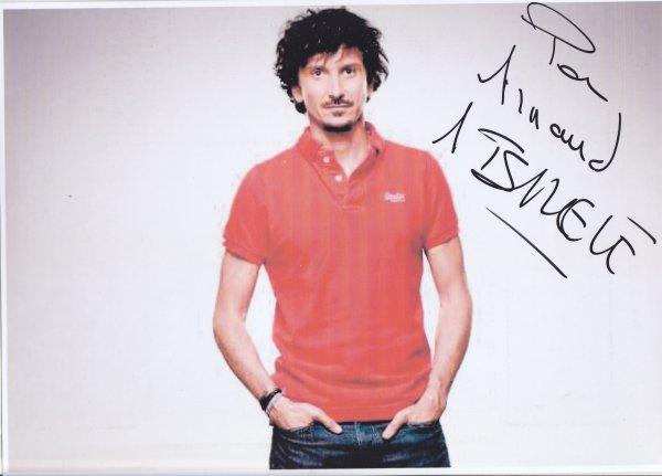 Autographe d'Arnaud Tsamère