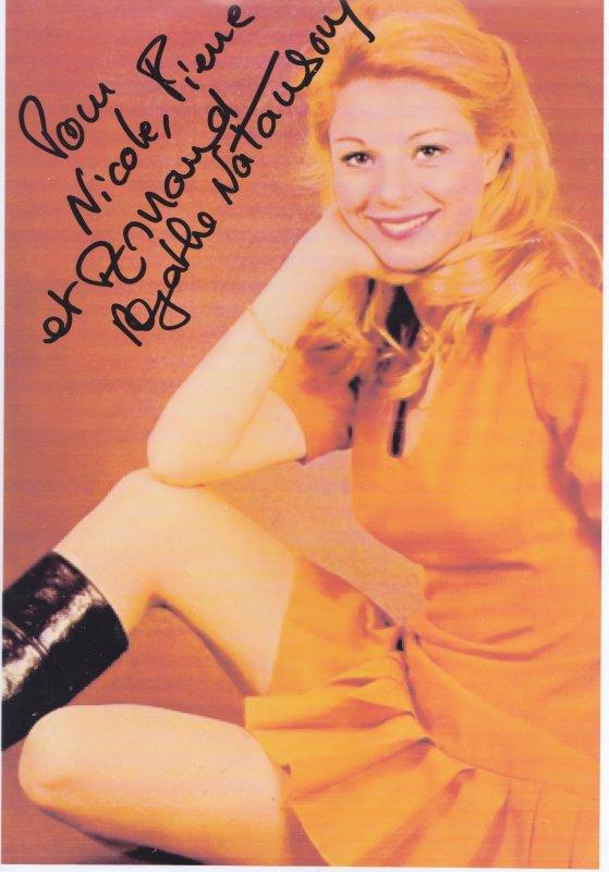 Autographe de Agathe Natanson