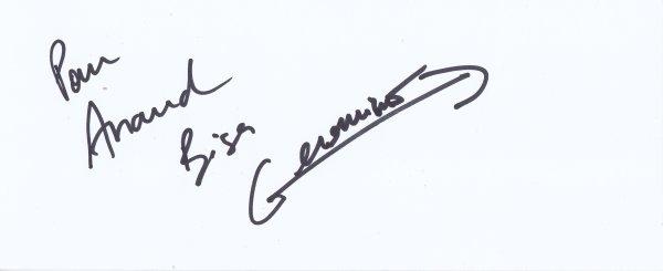 Autographe de Geronimo