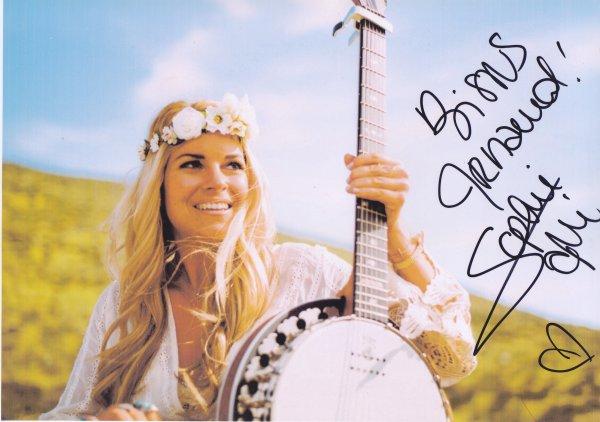 Autographe de Sophie Tapie