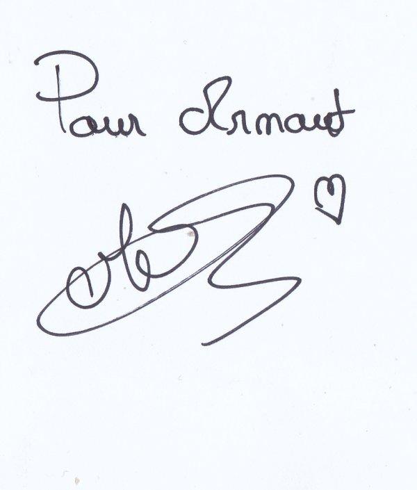 Autographe de Sasha