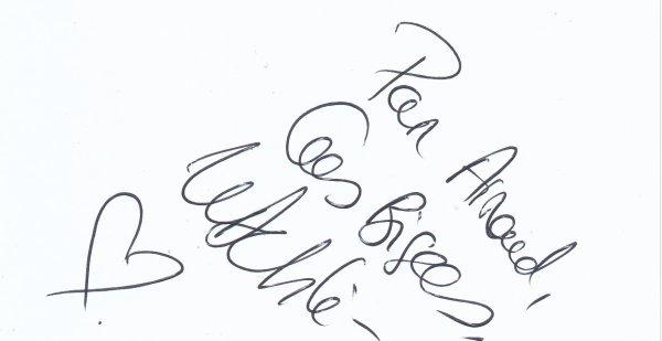 Autographe de Delphine Wespiser
