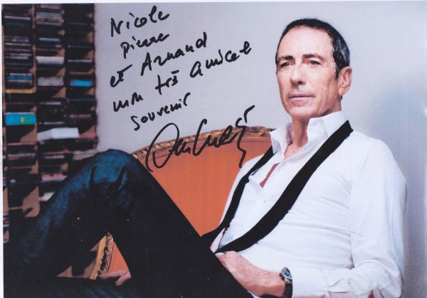 Autographe d'Alain Chamfort